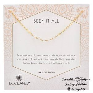 NWT - DOGEARED Seek It All Crystal Necklace